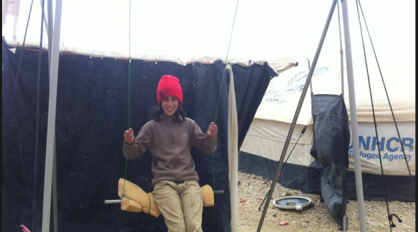In Zaatari refugee camp.