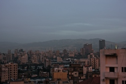Beirut at dusk.