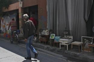 Street market in Nicosia, Cyprus.