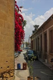 Walking from Nicosia toward The Green Line.
