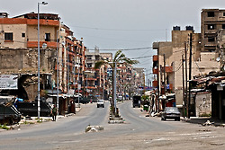 Syria Street in the heart of Lebanon's second largest city Tripoli, the street sits at the base of Jabal Mohsen where Alawite loyal to Syria's President Bashar Assad supported by Hezbollah battle with the Sunni supporters of the Syrian opposition at the base of the hill in Bab Tabbaneh. The battles here have been going on for over 20 years.
