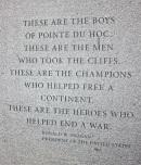 At the Pointe du Hoc memorial.