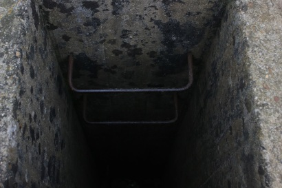 Entrance into a bunker.