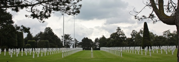 Normandy American Cemetery, closed because of the government shutdown.