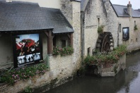 Outdoor exhibition in Bayeux, France.