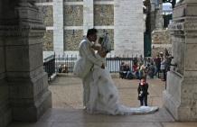 Newly married in Montmarte.