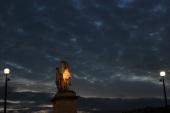 Paris night sky.