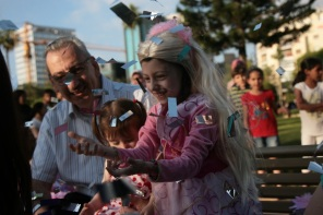 Nanor Eleyjian, 6, came to Lebanon from Aleppo, Syria, to treat her leukemia. Tamanna granted her wish to be a princess with a celebration in Beirut's Sanayeh Park, with visits from a team of Lebanese television stars including Kazadoo, Hello Kitty, a princess and prince.