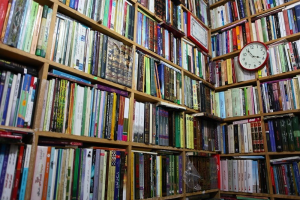 Books in Erbil souk.